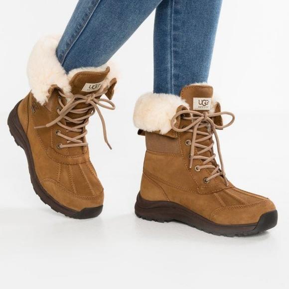 0483157c437 UGG Adirondack III Chestnut Waterproof Boots NIB 7 NWT